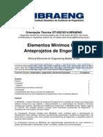OT-002-2014-IBRAENG Elementos Mínimos Para Anteprojetos de Engenharia Versão2 Em Consulta Pública1