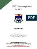 Programming Contest Spring 2014 IIUC