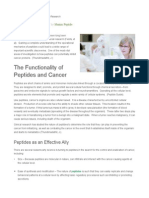 How Peptides Are Used in Cancer Research
