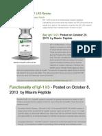 Maxim Peptide IGF-1 LR3 Review
