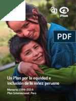 Memoria Plan Peru 1994-2014