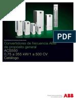 ACS550 Catálogo Técnico 2012