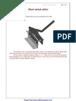 Sheet Metal Cutter Plan - Metalworking Plans - Craftsmanspace