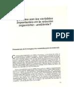Cuàles Son Las Variables Importantes en La Relacion Organismo-Ambiente 33-40