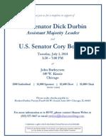 Durbin-Booker fundraising flyer