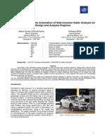 FMVSS214 SideIntrusion - Integrated HyperWorks Automation General MotorsM