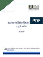 Algoritmo Per Min-Max Percorsi Su Grafi Aciclici