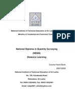 NDQS Course Handbook Distance Learning