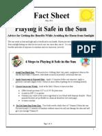 Sunscreen Fact Sheet