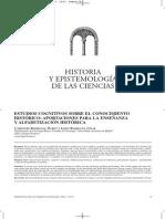 Carretero & Lopez - Estudios Cognitivos Sobre El Conocimiento Historico - Aportaciones Para La Enseñanza y Alfabetizacion Historica
