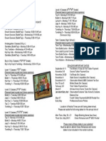 2014-2015 MDS Fall Class Brochure Page 2 of 2