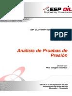 Alvarado, Manual Análisis de Pruebas de Presión
