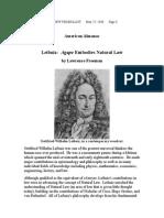 Leibniz - Agape Embodies Natural Law