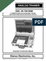 Digital/Analog Trainer & Troubleshooter xk-700-semi