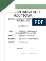 Informe N_ 5 de Mecánica de Suelos Limite de Liquido (Rubio Gil, Juan)