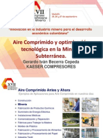 Aire Comprimido y Optimización Tecnologica en La Mineria Subterranea