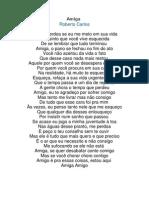 Música de Roberto Carlos - Amiga