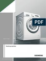 Siemens Washing Guide