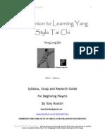 Tai Chi Long Set - Beginners
