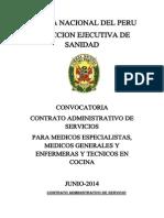 Convocatoria Cas-2014 - Dirsan Pnp