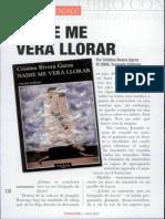 Articulo Nadie Me Vera Llorar