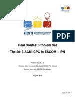 Problems the 2013 Acm-icpc in Escom-ipn