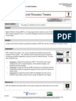 Master Resilience Training Fact Sheet
