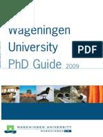 Phd Guide 2009