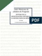 Estudio de La Investigacion Contable y Su Repercusion en Mexico