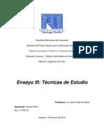 Unidad III Ensayo Tecnicas de Estudio_yoseph Peña