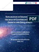 Exploration of Innovation and the Role of Clusters in Economic Growth and Development