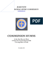 3 New Communion Hymns 2013