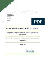 Armindo Tomo - Relatório Final Da Observaçao Das Eleicoes Intercalares Ibane 2012