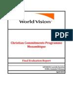 Armindo Tomo - WVM Chriatian Commitments Programme Evaluation Report 2013