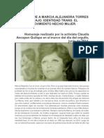 Mi Homenaje a Marcia Alejandra Torres Mostajo