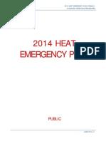 2014 Heat Emergency Plan