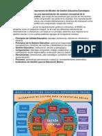 Componentes Del Modelo de Gestión Educativa Estratégica