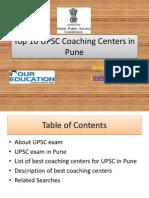 Top 10 UPSC Coaching Centers in Pune