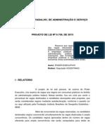 Relatorio Votos Deputado-PL 6738-2013