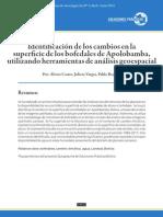 Identificación de los cambios en la superficie de los bofedales de Apolobamba, utilizando herramientas de análisis geoespacial