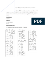 programa por el PLC para establecer el control de un semáforo