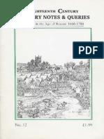 Partizan Press - 18th Century Notes & Queries 012