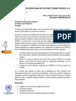 Oficio FEMEPAR No Recursos Para Campeonato Mundial NICO