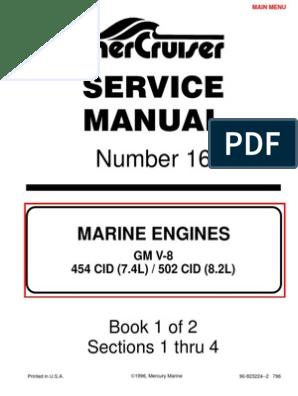 7 4L 454 Mercruiser Manual | Gasoline | Internal Combustion Engine