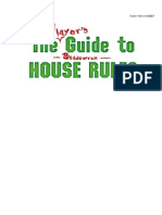 The Player's Guide to Shadowrun House Rules