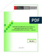 Estudio de Impacto Vial Para La Desafectación de La Calle Contralmirante Raygada - Callao