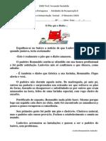 Atividades de Recuperação III - 7º Ano Texto - Leitura e Interpretação