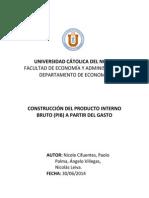 Informe Final Construcción Del Producto Interno Bruto Mediante El Gasto