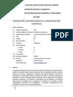 Sílabo Metodologia de a Investigación-estadística e Informatica