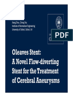 A Novel Flow-diverting Stent for the Treatment of Intracranial Aneurysms -Presentation